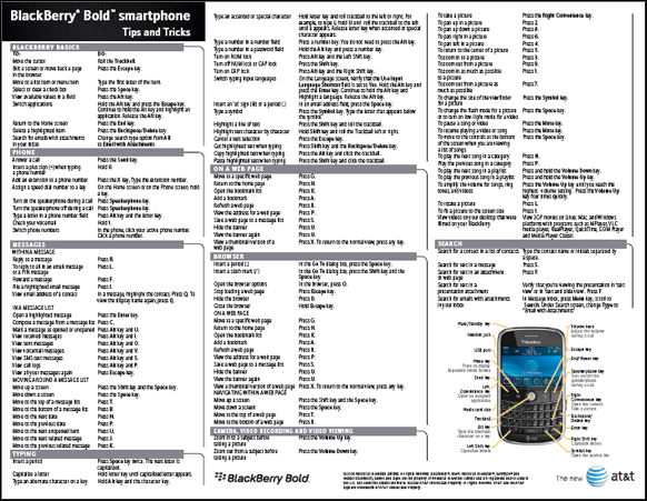 AT&T BlackBerry Bold Tips!