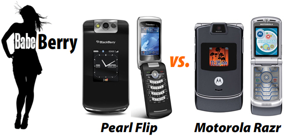 BabeBerry - Pearl Flip vs. Motorola Razr