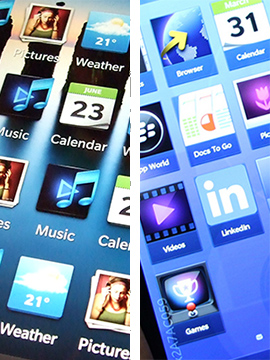 Left: Old BB10 Icons; Right: Current BB10 Icons