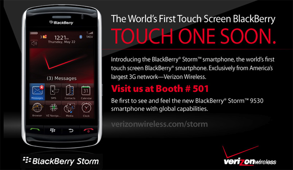 BlackBerry Storm at DevCon!