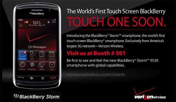 BlackBerry Storm at DevCon!