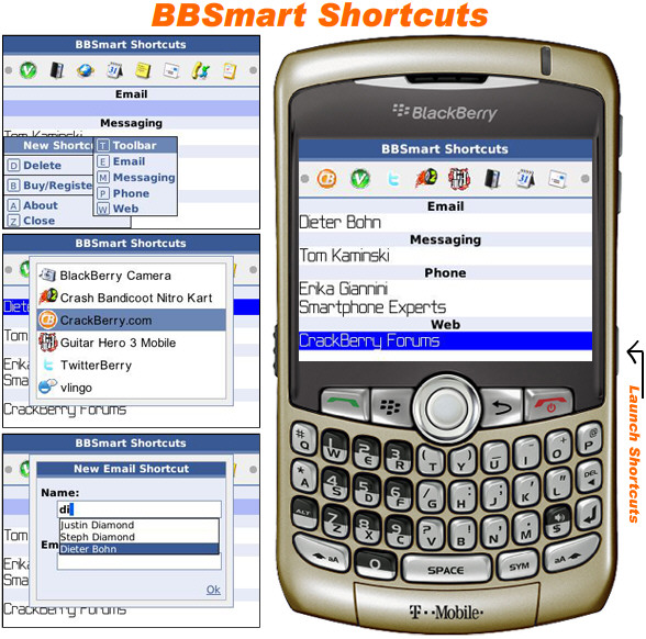 BBSmart Shortcuts