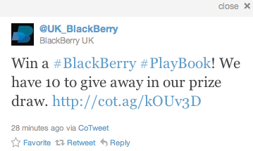 BlackBerry PlayBook Contest