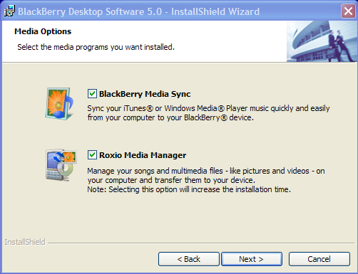 BlackBerry Desktop Manager 5.0