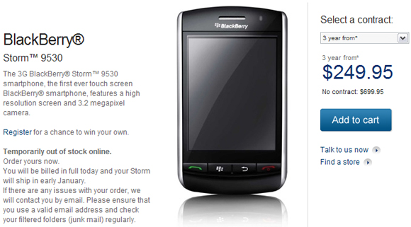 BlackBerry Storm Launches on Bell