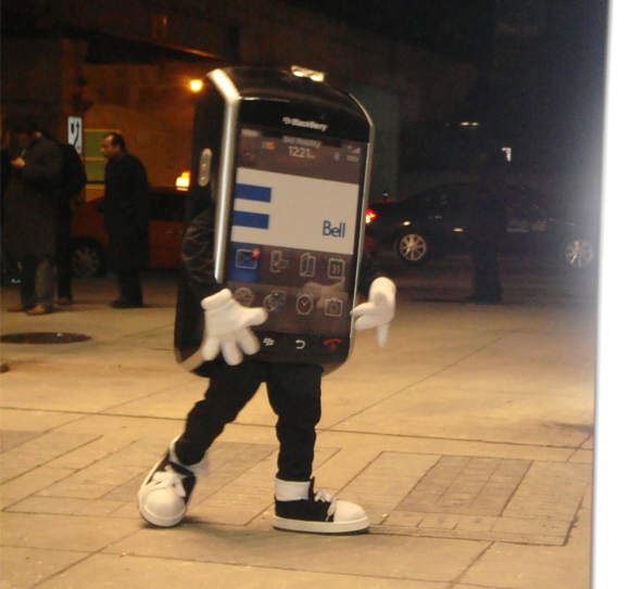 Bell BlackBerry Storm Mascot