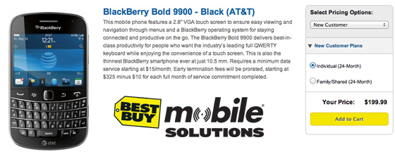 AT&T BlackBerry Bold 9900