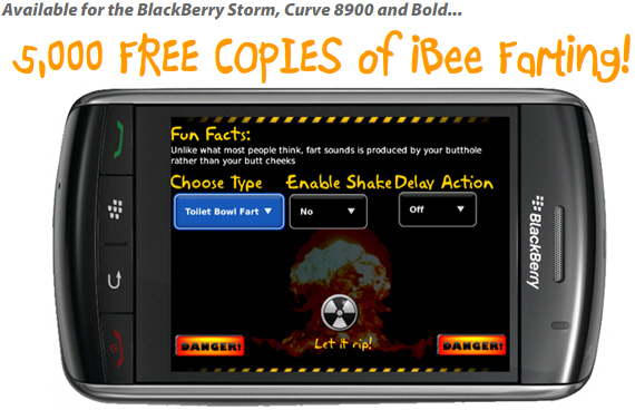 5,000 Free Copies of iBee Farting!