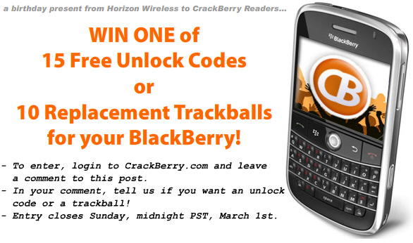 15 Free Unlock Codes or 10 Trackballs to be Won!