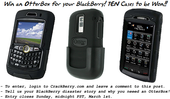 Win an OtterBox for your BlackBerry!