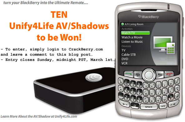 Win the Ultimate BlackBerry Remote!