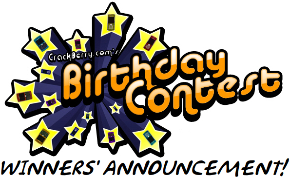 CrackBerry Birthday Week Contest Winners!