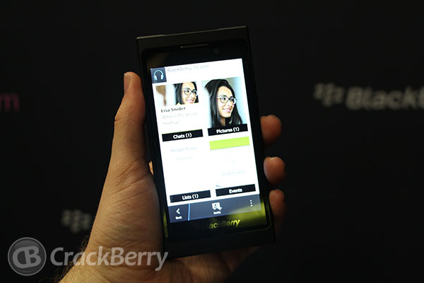 BlackBerry Messenger on BlackBerry 10