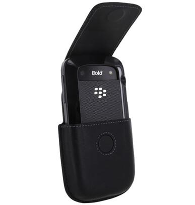 BlackBerry Bold 9000 Holster w/ BlackBerry Bold 9900 in BlackBerry Hard Shell Case