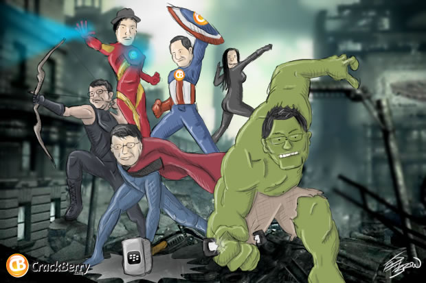 The BlackBerry Avengers!