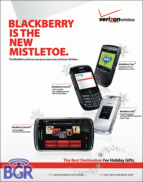 Verizon BlackBerry Curve2