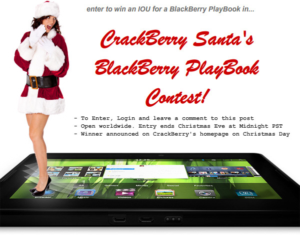 Win an IOU for a BlackBerry PlayBook!
