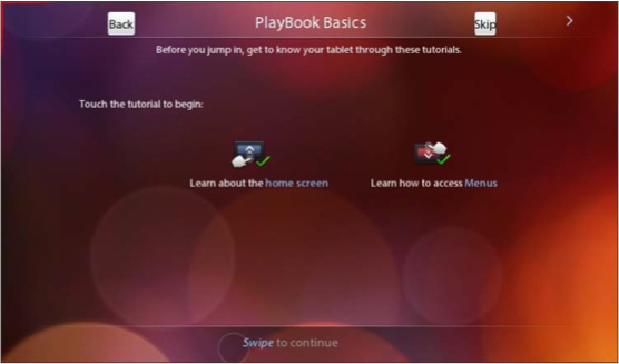 BlackBerry PlayBook Basics