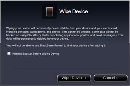 Remote Wipe