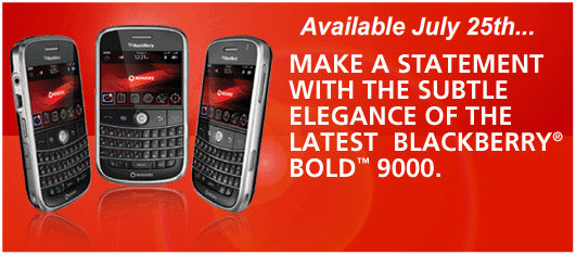 Rogers BlackBerry Bold Release Date