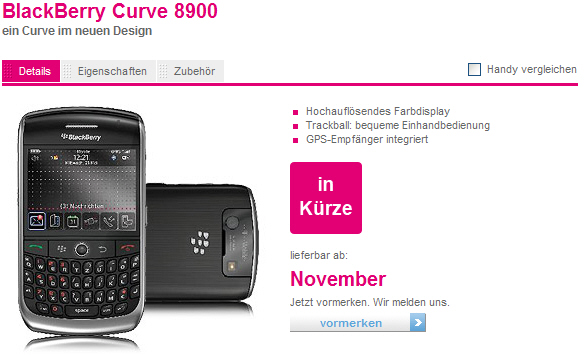 BlackBerry Curve 8900 Gets Official!
