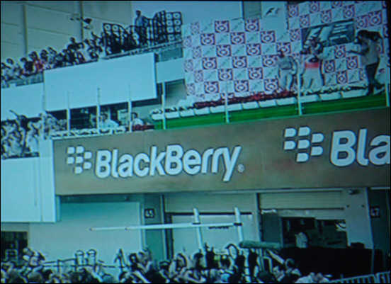 BlackBerry Advertising in Formula 1 Race