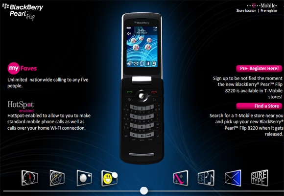 BlackBerry Pearl Flip!