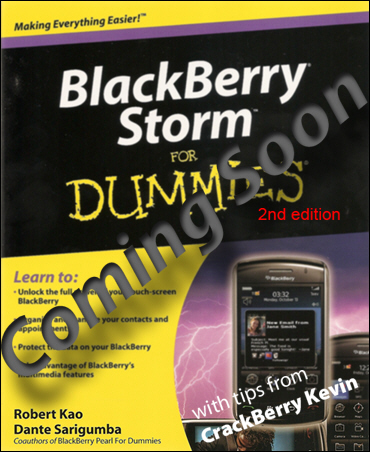 BlackBerry Storm II for Dummies Coming Soon