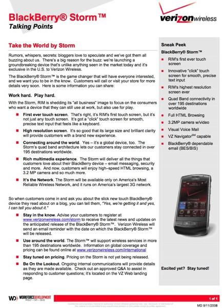 Verizon BlackBerry Storm