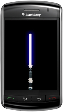 Free BlackBerry Storm Lightsaber App
