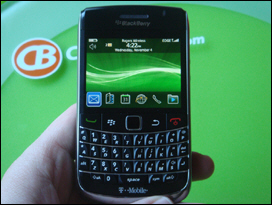 The BlackBerry Bold 9700 - Smaller, More Memory and Better Camera than the original Bold 9000, plus it gets the Optical Trackpad.