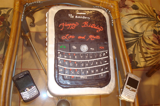 BlackBerry Bold Birthday Cake