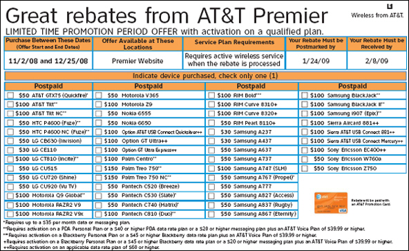 BlackBerry Bold Rebate