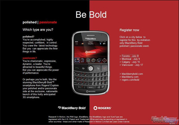 BlackBerry Bold Launch Parties!