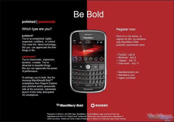 BlackBerry Bold Launch Parties!