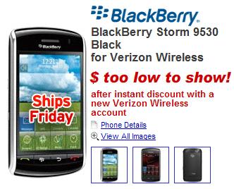 Buy the Verizon BlackBerry Storm Online Today!