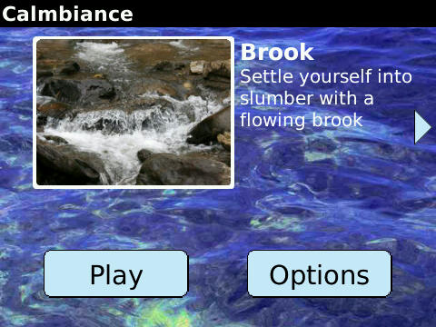 Calmbiance for BlackBerry