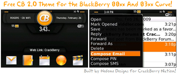 Free CB 2.0 Theme for the BlackBerry 88xx and Curve 8300 Series!