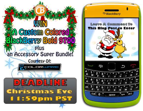 Make it a ColorWare CrackBerry Christmas... Leave a Comment to this Post for Your Chance to Win a BlackBerry Bold 9700!