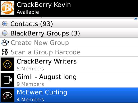 BlackBerry Messenger Groups