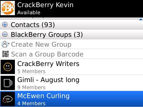 BlackBerry Messenger Groups