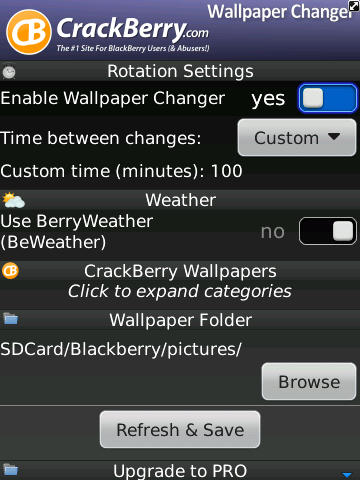 CrackBerry Wallpaper Changer