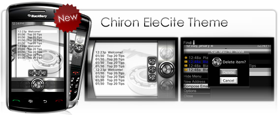 Chiron Premium Theme for the BlackBerry Storm, Curve 8900 and Bold