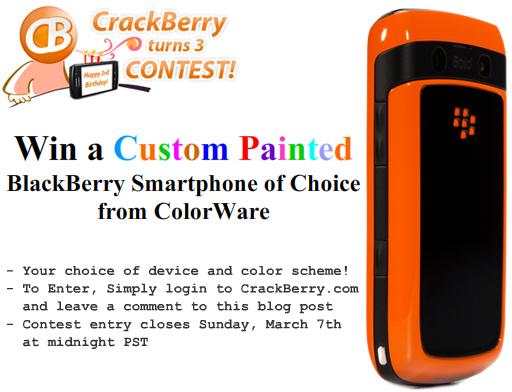 Win a ColorWare BlackBerry Smartphone!