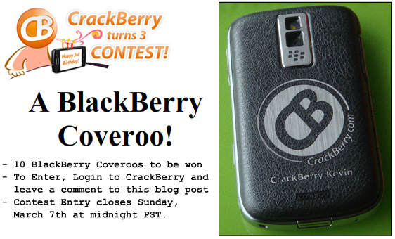 Win a Coveroo for your BlackBerry!