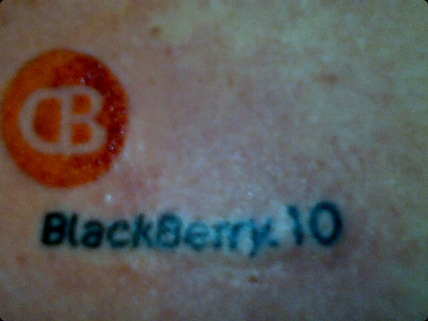CrackBerry and BlackBerry 10 Tattoo!