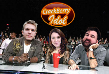 the CrackBerry Idol Judging Panel