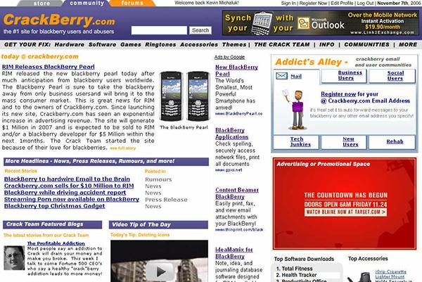 Original CrackBerry Mockup