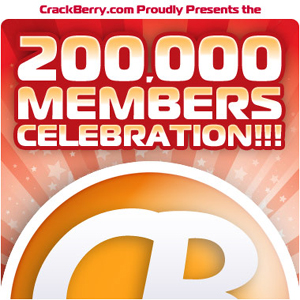 CrackBerry.com has 200,000 Members!