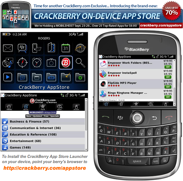 MobileHeist! Over 25 BlackBerry Apps for only $9.95!